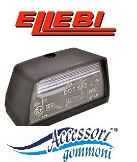 FANALE TARGA ELLEBI HELLA BASE 100//90x52,5mm h57mm 00099