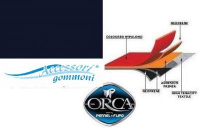"TESSUTO GOMMATO 828 ""DARK BLUE""ORCA NEOPRENE/HYPALON 1300 DENARI"