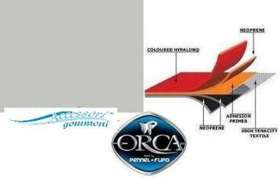TESSUTO GOMMATO ORCA 215 ARTIC GREY NEOPRENEHYPALON 1000DN h150cm PER GOMMONI