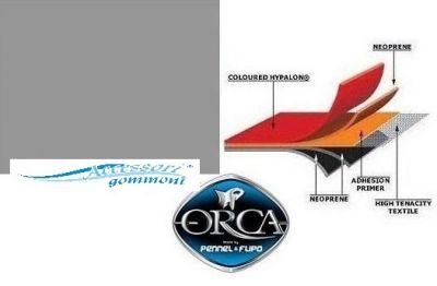 """TESSUTO GOMMATO ORCA 215 """"NEPTUNE GREY""""NEOPRENE/HYPALON 1000DN h150cm PER GOMMONI"""